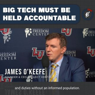 The deception & manipulation of big tech must end! They will not stop on their own, so the people must do what they can to hold them accountable. We are hoping for resounding victories for @jamesokeefeiii & @project_veritas in their lawsuits against NYT, CNN, & Twitter for their defamatory, manipulative, & illegitimate practices against James & his organization.