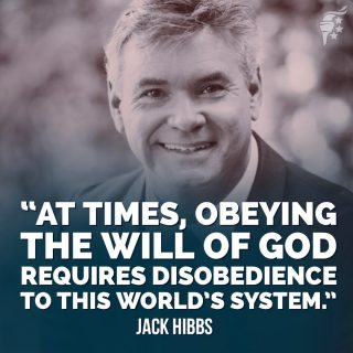Christians are called to obey governing authorities. But when the world requires us to violate our ultimate loyalty to God, we can disobey the world's mandates with a clear conscience.   #freedom #pastorsforchrist #godisincontrol
