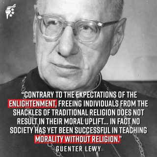 Contrary to popular belief, religion does not prevent society from thriving, it is actually a conduit through which freedom is brought to a nation.