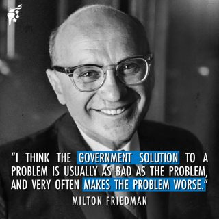 """Government always wants to provide """"solutions"""" to problems that often restrict our liberties and end up making a bad situation worse. Always be skeptical when the government wants to intervene and """"solve a problem."""""""