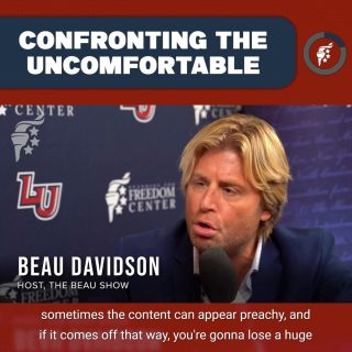 Christians and conservatives need to be willing to get out of their comfort zones to discuss difficult issues. We cannot be afraid to speak honestly and transparently about difficult topics.  @thebeaudavidson