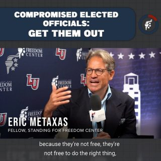 With the very identity of our nation under a full-on assault from Neo-Marxists in office and in our communities, we need leaders who will rise to the occasion and protect our freedoms. If our officials won't or fail to do that, we must vote them out of office.  @ericmetaxas